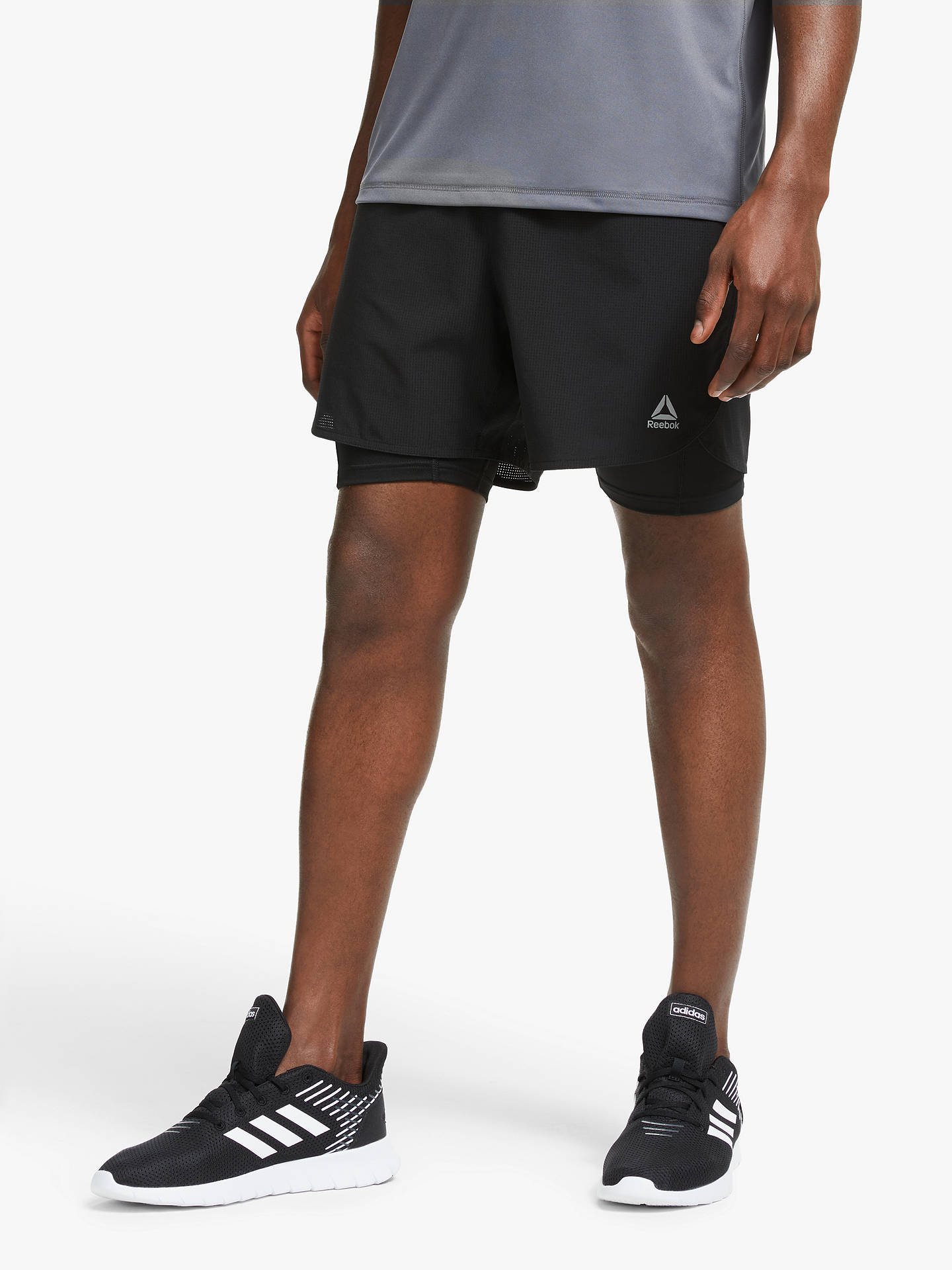 713e28c3 Reebok One Series Running Epic 2-in-1 Running Shorts, Black