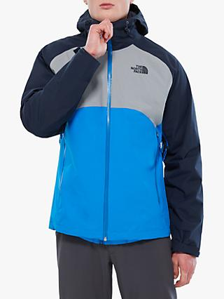 The North Face Stratos Men's Waterproof Jacket, Bomberble/Mid Grey/Urban Navy