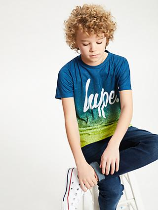 Hype Boys' Speckle Fade T-Shirt, Blue/Lime