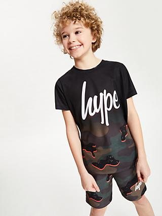 Hype Boys' Camouflage T-Shirt, Multi