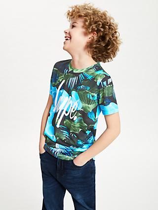 Hype Boys' Leaf Pool Script T-Shirt, Multi