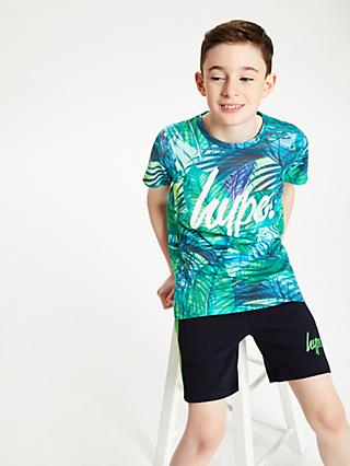 Hype Boys' Palm Tree T-Shirt, Green