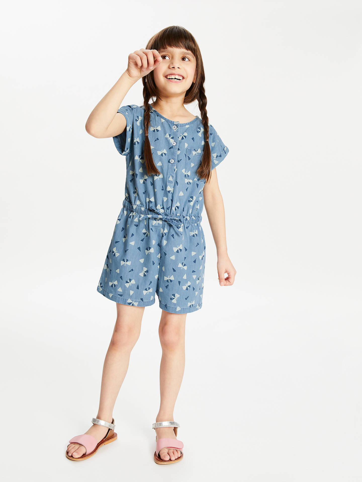 a4f801bc1c Buy John Lewis   Partners Girls  Chambray Playsuit