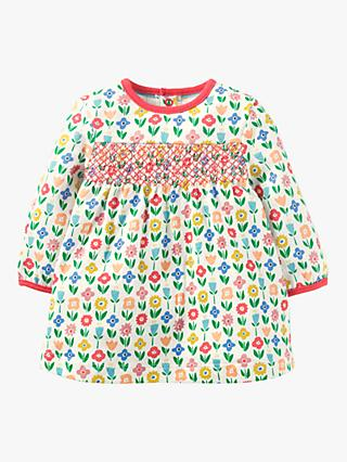 Baby Joule Smocked Jersey Floral Dress, Multi