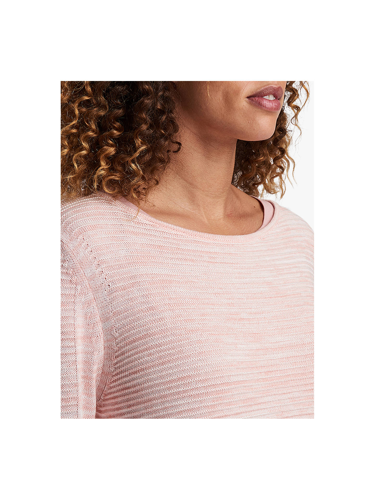 BuyBarbour International Hartle Knitted Sweatshirt, Rose/White, 14 Online at johnlewis.com