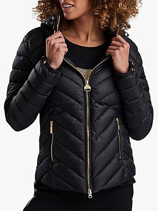 Barbour International Durant Quilted Hooded Jacket, Black