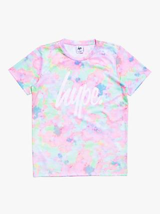 Hype Girls' Spring Pastel Print T-Shirt, Pink/Blue