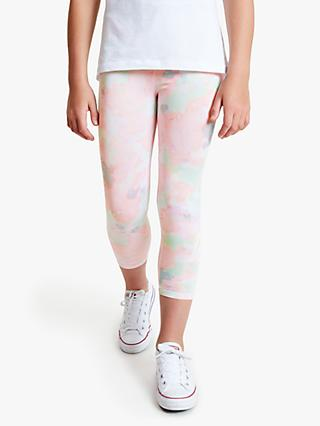 Hype Girls' Sponge Script Print Leggings, Multi