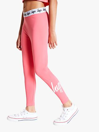 Hype Girls' Script Leggings, Pink