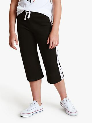 Hype Girls' Culotte Logo Joggers, Black/White