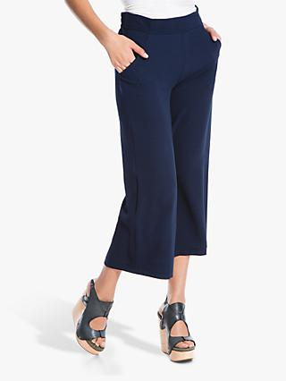 Max Studio Bubble Crepe Cropped Trousers, Navy