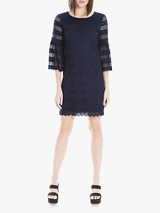 Max Studio Frill Sleeve Lace Dress, Navy
