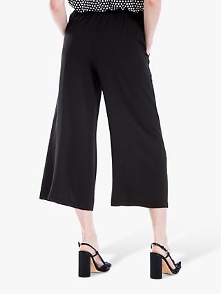 Max Studio Wide Leg Cropped Trousers, Black