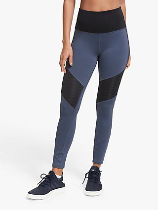Reebok Studio Mesh Training Tights, Heritage Navy