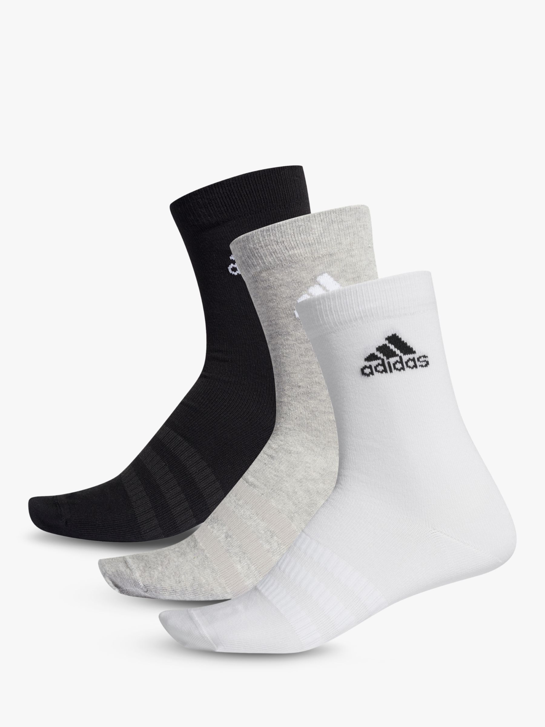 adidas Light Training Crew Socks, Pack of 3, Black