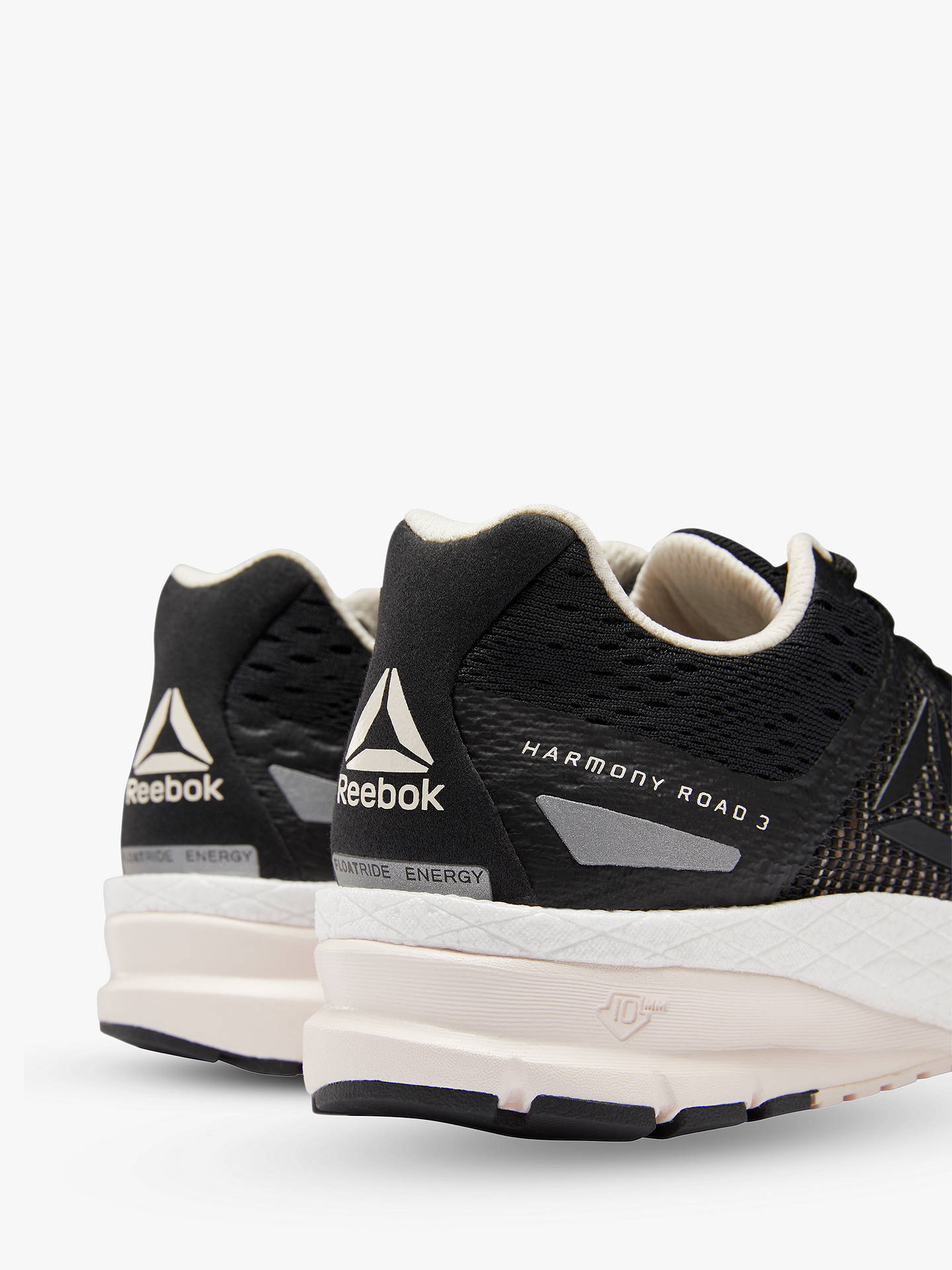 Buy Reebok Harmony Road 3.0 Women's Running Shoes, Black/Pale Pink/White, 5 Online at johnlewis.com