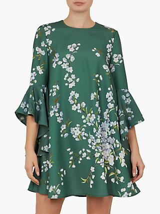6f76c8fd42fbe1 Ted Baker Shicago Waterfall Ruffle Detail Floral Dress