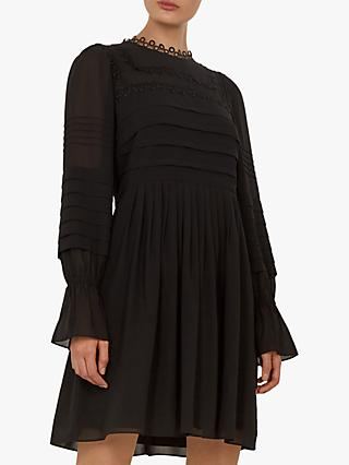 Ted Baker Arrebel Volume Sleeve Embroidered Dress