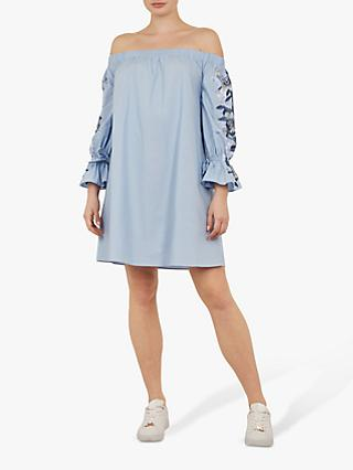 cd8a00f5f89c Ted Baker Julyett Embroidered Bardot Dress