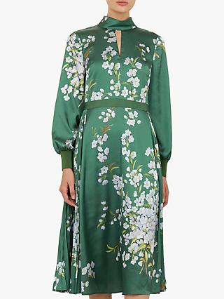 Ted Baker Jhenni Floral Midi Dress, Green