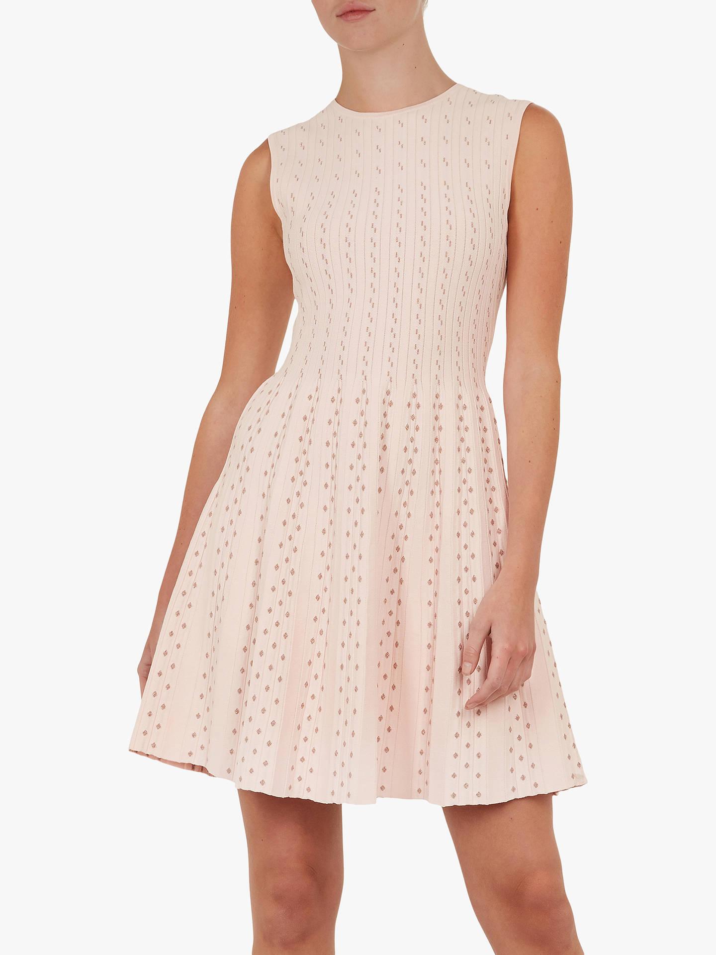 Ted Baker Vellia Knitted Flippy Skater Dress, Light Pink by Ted Baker