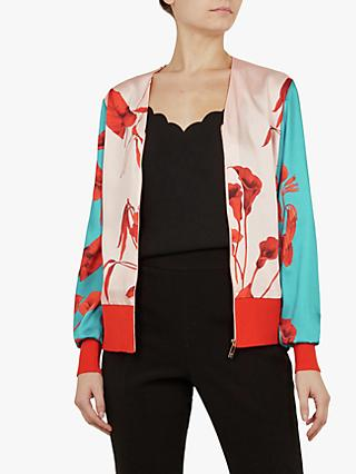 4564299460cc85 Ted Baker Cortnee Fantasia Knit Bomber Jacket