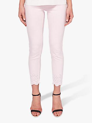 Ted Baker Massie Embroidered Skinny Jeans