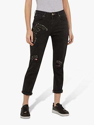 2c3f76920d95 Ted Baker Yannah Sequin Detail Boyfriend Jeans