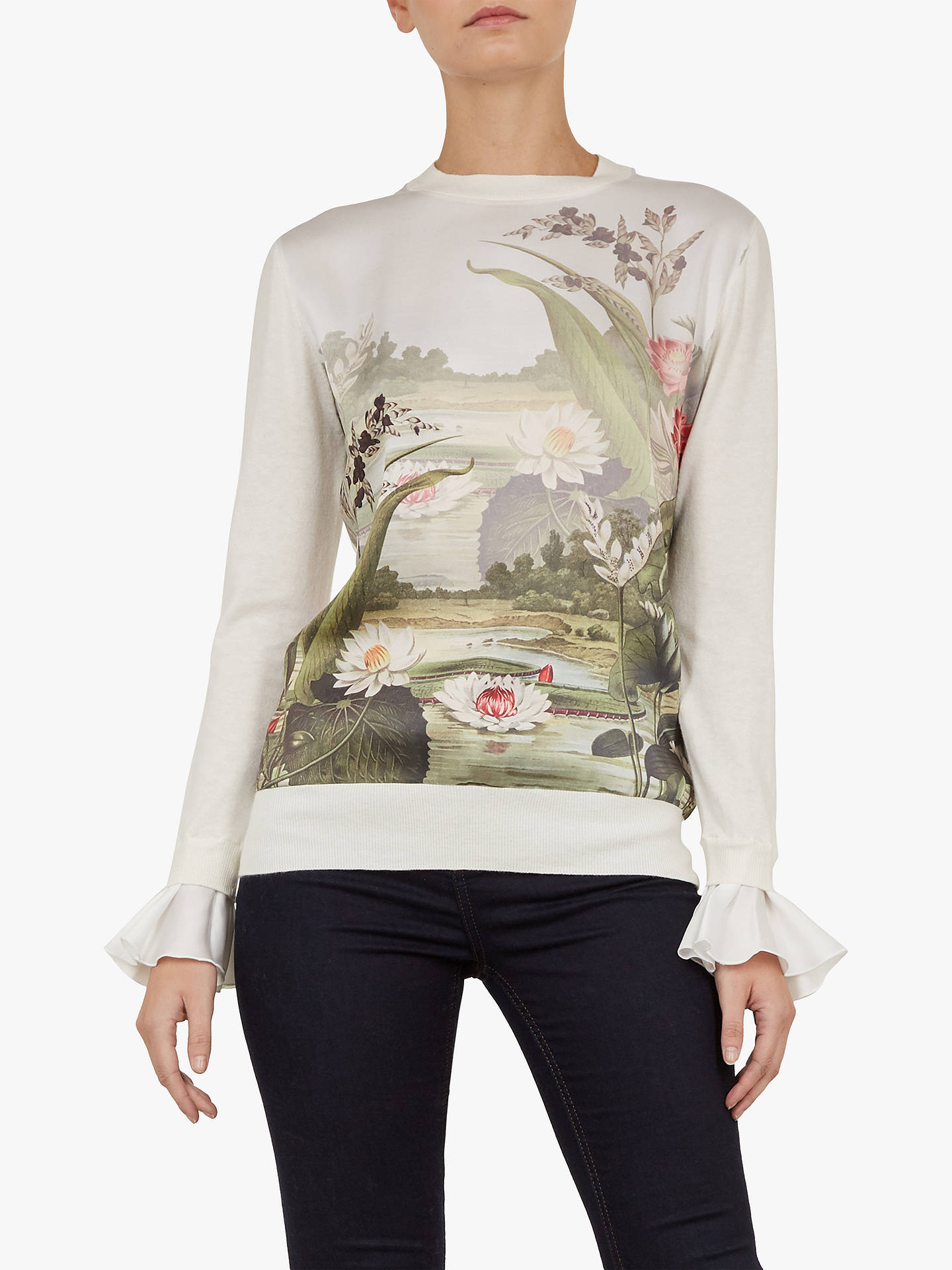 f9ac98aed8e48 Buy Ted Baker Linzay Floral Ruffle Sleeve Top