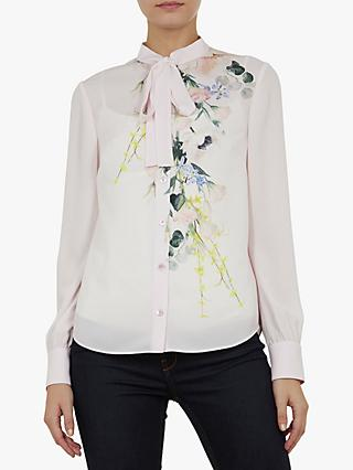 7b42e30f1b24c Ted Baker Lovii Tie Neck Floral Shirt