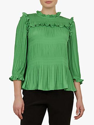 6b036198fa274 Ted Baker Airlie Pleated Smocking High Neck Top