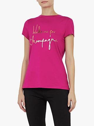 85e599ad3c82e3 Ted Baker Lolyata Wake Me Up For Champagne T-Shirt