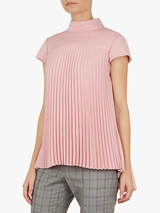 6533480f074558 Ted Baker Laurra Pleated Top