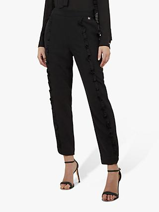Ted Baker Seiana Ruffle Detail Trousers, Black