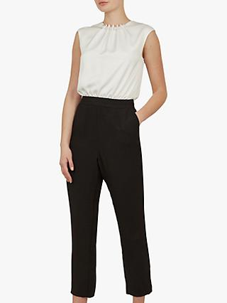 Ted Baker Roziee Jumpsuit, Black/White