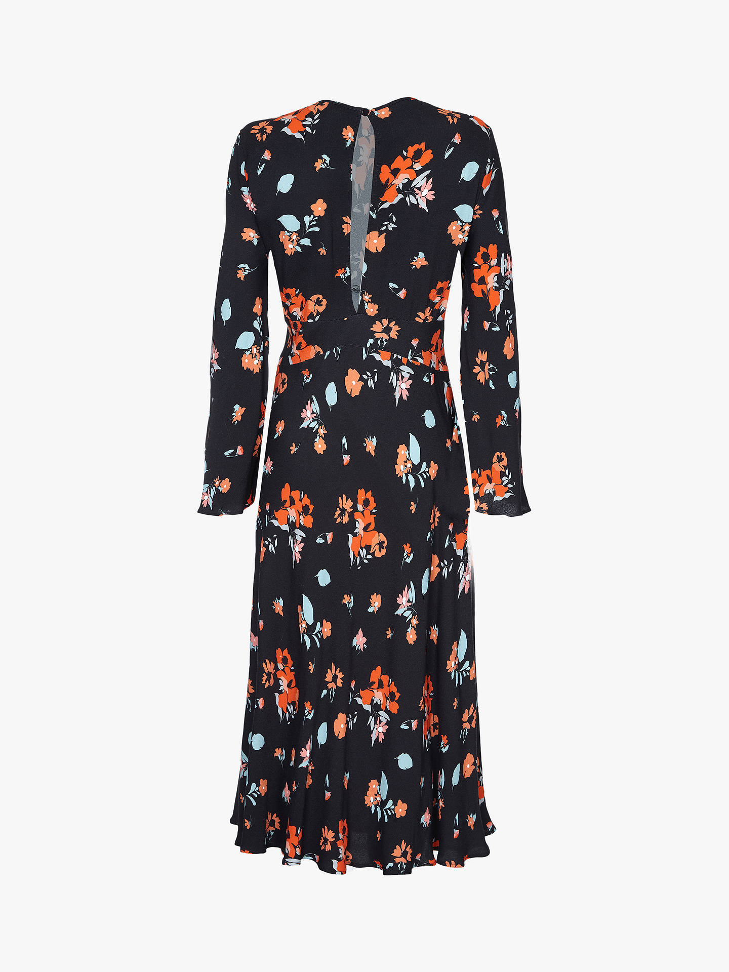 Buy Ghost Sophia Dress, Daisy Mae Floral Black, L Online at johnlewis.com