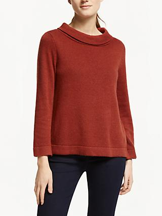 Seasalt Gulf Jumper, Dark Terracotta