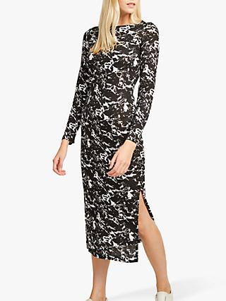 French Connection Lawson Print Dress, Black/White