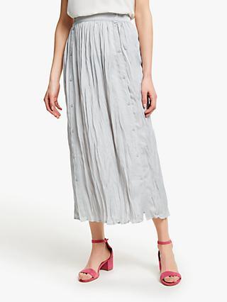 796749ea1b John Lewis   Partners Button Through Crinkle Skirt