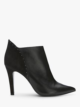 Mint Velvet Janine Stud Stiletto Heel Shoe Boots, Black Leather