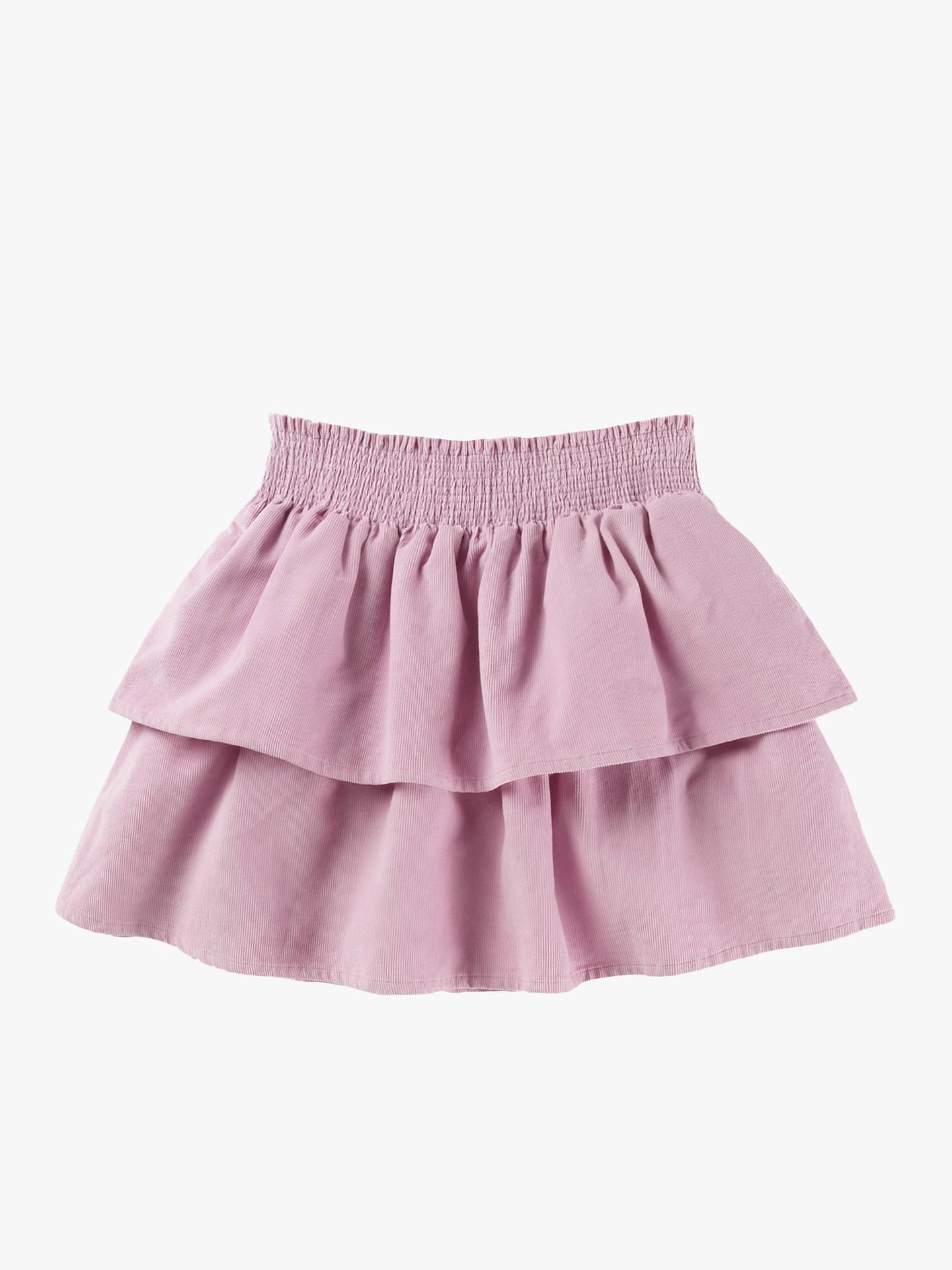 Mini Boden Girls' Ruffle Tiered Skirt, Delphinium Lilac at John Lewis &  Partners