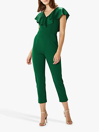 Coast Short Beau Ruffle Jumpsuit, Green