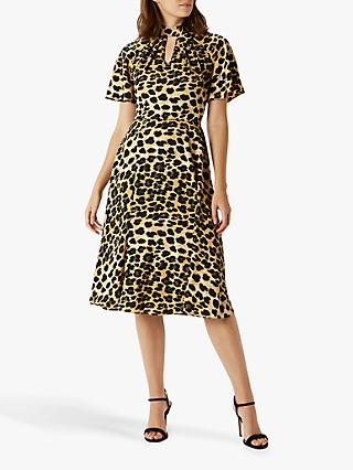 Coast Martha Leopard Print Dress, Multi