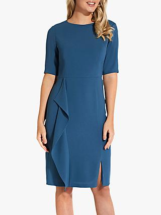 Adrianna Papell Textured Crepe Dress, Blue Sea