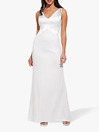 Adrianna Papell Knit Crepe Maxi Dress, Ivory