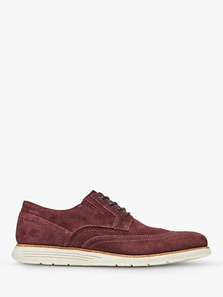 Rockport Total Motion Sports C.F. Stead Suede Oxford Shoes, Burgundy