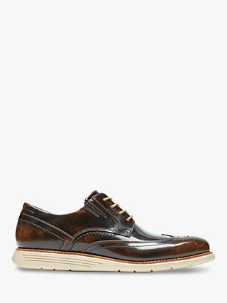Rockport Total Motion Sports Leather Casual Oxford Shoes, Dark Brown