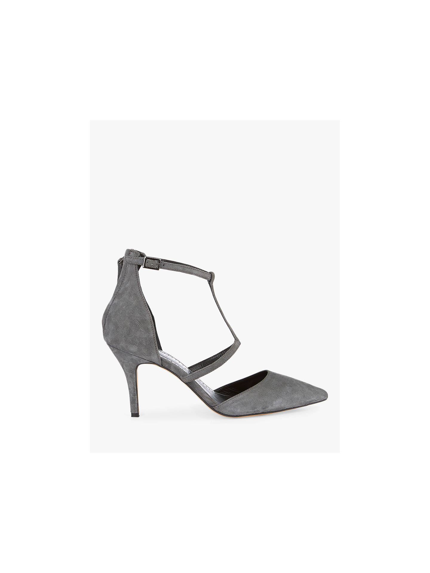 7364e665b7ea4 Buy Mint Velvet Nicole Strap Heel Court Shoes, Grey Suede, 3 Online at  johnlewis ...