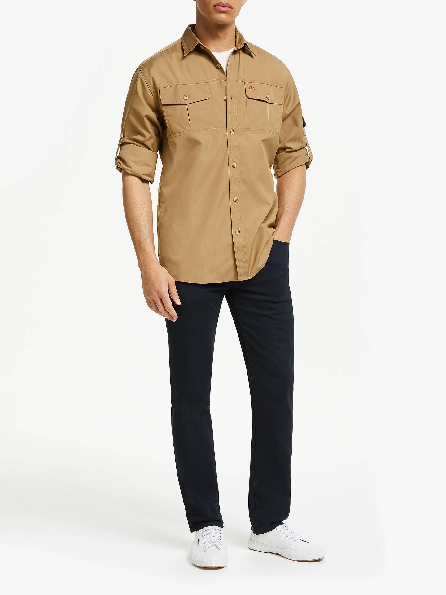 Men/'s Shirt S Fjäll Räven Singi Trekking Shirt Dark Grey