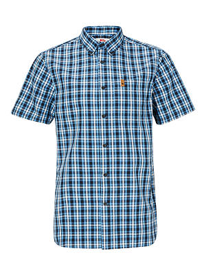 Buy Fjällräven Ovik Short Sleeve Check Shirt, Dusk, L Online at johnlewis.com
